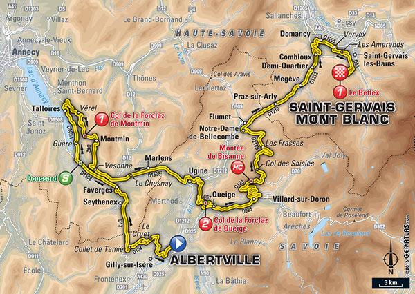 Albertville Dans Le Tour De France